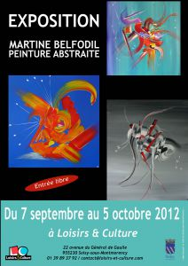 Martine BELFODIL expose à Loisirs et Culture 95 Soisy sous Montmorency
